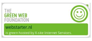WebStarter Groene Hosting - checked by thegreenwebfoundation.org